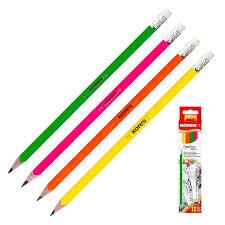 <b>Карандаш чернографитный Kores</b> Grafitos Neon HB корпус в ...