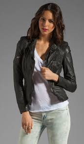lyra leather biker jacket muubaa