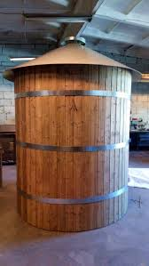 wood wood wrapped veneered concrete and brick tanks