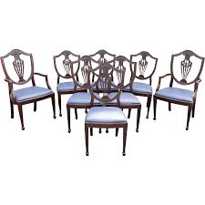 dining chairs mahogany upholstered. set of 8 mahogany hepplewhite style shield back upholstered dining chairs e
