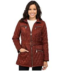 Vince Camuto Belted Quilted Jacket L8101 at 6pm & MAIN Adamdwight.com