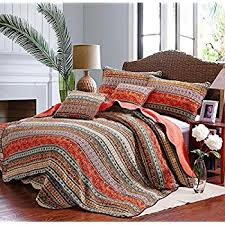 Beddingleer King Size Morocco Style 100% Cotton Quilted Bed Spread ... & Beddingleer King Size Extreme luxury Best Striped Classical Cotton  Patchwork Quilted Bedspread Set Printed Vintage Collection Handmade Bedding  Quilt/Sham ... Adamdwight.com