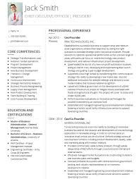 Resume Examples For Executives Simple The 28 Best Executive CV Examples