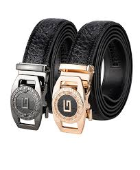 Alloy Jeans Size Chart New High End Mens Business Alloy Automatic Buckle Leather Belt