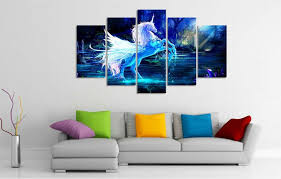 next on home decor wall art painting with printed oil painting unicorn horse forest blue canvas print home
