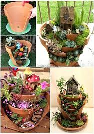 broken pots fairy garden tutorial pot planter how to miniature