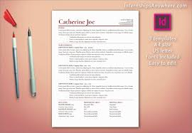 Adobe Indesign Templates Free Outstanding Resume Template Including