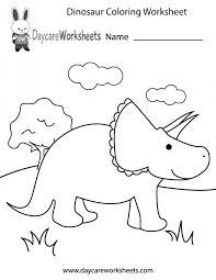 Dinosaurs Coloring Pages Cute Cartoon Dinosaur Preschool ...