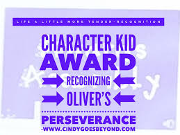 Character Kid Award Cindy Goes Beyond
