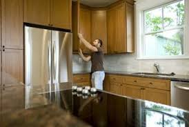 clear everything out of the cabinets and off the counters before you begin