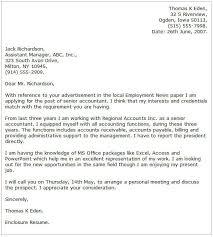 Resume Cover Letter For Senior Accountant Free Senior