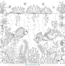 Many type of fishes under the sea coloring pages for kids. Free Under The Sea Coloring Page Free Coloring Daily