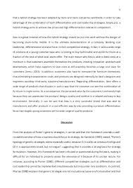 strategic management essay porter s generic strategies and strategi   5