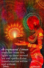 An Empowered Woman Tends Her Inner Fire Lights Up Those Around Her
