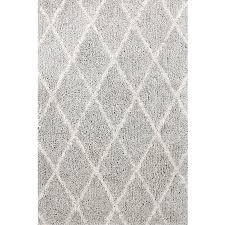carpet art deco veneto light grey white rectangular indoor machine made area rug