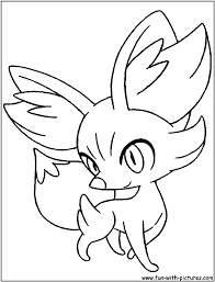 Small Picture Pokemon Coloring Pages Fennekin olegandreevme