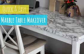 Old Coffee Table Makeovers Diy Marble Table Quick And Easy Table Makeover Youtube
