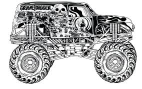 Monster Truck Coloring Page Monster Truck Iron Outlaw Coloring Page