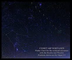 Comet Wirtanen Finder Chart