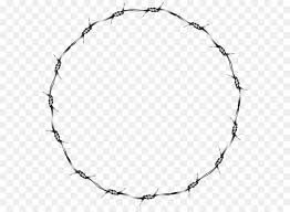 Barbed wire Fence Clip art Wire Round Border Transparent Clip Art