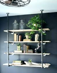 industrial wall mounted shelving shelves best ideas about black colored four moun