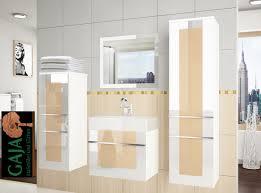 Badezimmermöbel Set Hochglanz In 6 Farbvarianten Gaja Küchen Shop