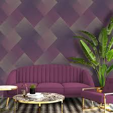 Modern geometric 3D effect wallpaper in ...
