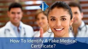 How To Identify A Fake Medical Certificate Pronel Recruitment