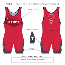 Wrestling Singlet Design Maker Nike Custom Sublimated Singlet