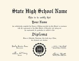 Us High School Diploma Style 6