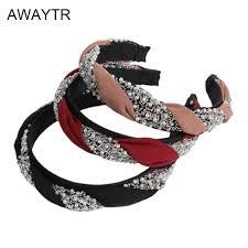 <b>Korean</b> Retro <b>Handmade</b> Fabric Beads Cross Headband Hair ...