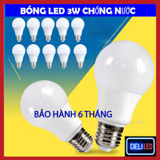Bóng Đèn Led 3W Búp Tròn Kín Nước - BÁnh Sáng Vàng Tiết Kiệm Điện Năng độ  bền cao Bảo hành 6 Tháng - Linh kiện đèn