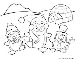 Penguin Coloring Pages Printable Penguin Coloring Pages Preschool 6