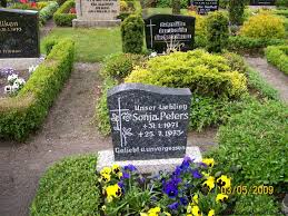 Grab von Sonja Peters (31.01.1971-25.07.1973), Friedhof Wallinghausen