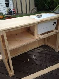 diy outdoor bar with built in cooler homemade bars patio i69