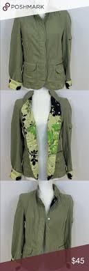 Oilily Jacket Snap Closure 100 Cotton Left Sleeve Has
