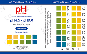 Ph Test Strips 4 5 9 0 For Urine And Saliva 100 Strips