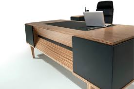 Office Furniture Modern Gorgeous Executive Desk Wooden Contemporary Commercial ERVA SOLENNE