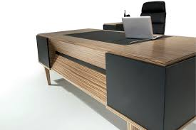 Contemporary Modern Office Furniture Interesting Executive Desk Wooden Contemporary Commercial ERVA SOLENNE
