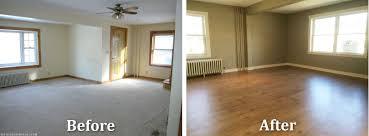 Sanford Maine Home Remodeling Livingroom Before After