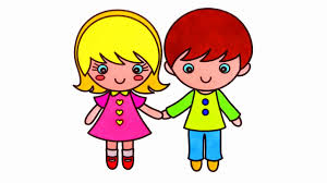 How to Draw Little Boy and Girl Coloring Pages for Kids Learn ...