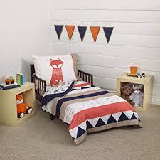 Amazon.com : Carter's Aztec 4 Piece Toddler Bedding Set, Navy, Cream ...