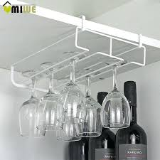glass holder rack under cabinet hanging wine cup goblet stainless steel glass holder wine rack storage