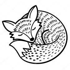 черно белая картинка лиса черно белая картинка лисы черно белая