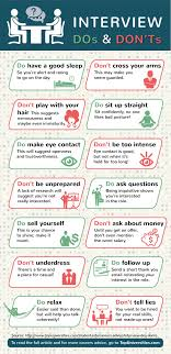 The Do S And Don Ts Of An Interview Job Interview Dos And Donts Best Interview Guidelines
