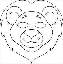 1) if you have javascript enabled you can click the print link in the top half of the page and it will automatically print the coloring page only and ignore the advertising and navigation at the top of. Animal Templates Free Premium Templates Animal Mask Templates Animal Face Mask Animal Masks For Kids