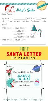 Traditions are always a fun part of the holiday season. Free Santa Letter Printable With Envelope And Wish List Leap Of Faith Crafting