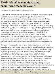 ... 16. Fields related to manufacturing engineering manager ...