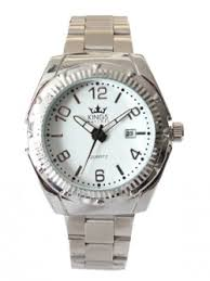 fashion watches kwd 01 mens water resistant metal strap watch silver tone