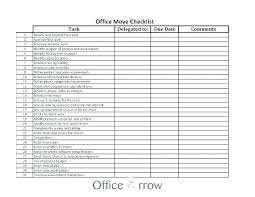 Moving Packing List Template Moving List Template House